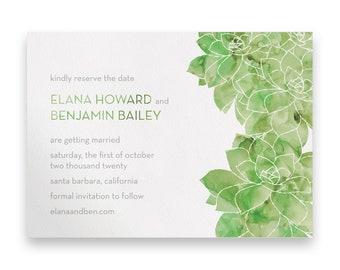 Succulent Wedding Save the Date/Wedding STD/Wedding Save The Dates/Save-The-Date/Greenery Wedding/Foliage/Green/Watercolor Wedding