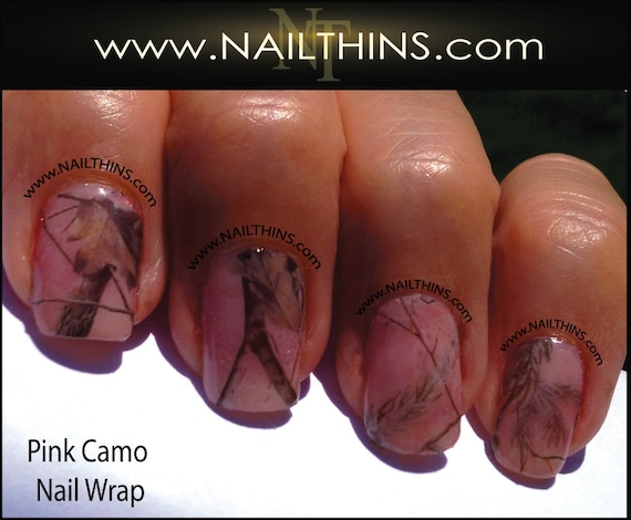 Like this item? - Pink Camo Nail Decal Nail Wraps Full Nail Style By NAILTHINS