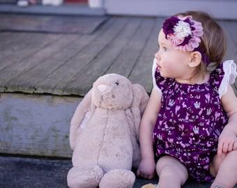 Bubble Romper  - Toddler Romper - Toddler Bubble Romper  - Easter Romper - Purple Romper - Baby Girl Romper - Spring Romper - Girls Romper