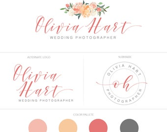 Branding Board | Branding Kit | Premade branding Kit | Mood Board | Branding | Brand | Watercolor flowers  | Brush font | Watermaks