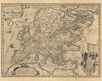 map of renaissance europe 17th century fine art reproduction mp019