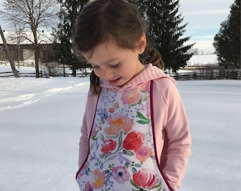 Watercolour Floral Sweatshirt - Aspen Hoodie - Baby Toddler Girls' Pullover - Mama and Me