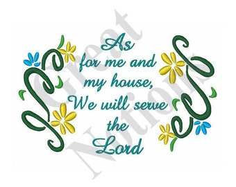 Serve The Lord - Machine Embroidery Design