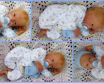Reborn boy doll Realistic Lifelike ethnic newborn baby Clyde kit  Real looking OOAK Ready to Ship