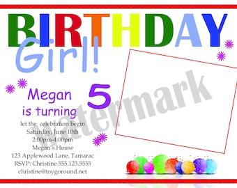 Birthday Girl Birthday Invitation