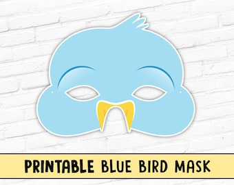 Blue Bird Mask Bluebird Printable Spring Easter Animal Party