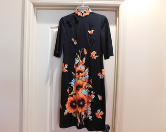 Wonderful Asian Dress - Great Style & Design - Very Unique Asian Dress - S-M Size/See measurements - Well-made dress probably custom made