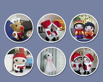 Festive Holidays Amigurumi Patterns - Singles
