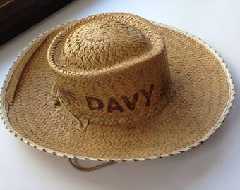 Davey Crocket Childs Straw Hat