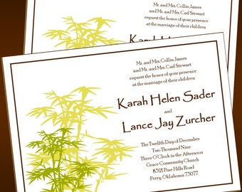 Beautiful Bamboo - Wedding Invitations