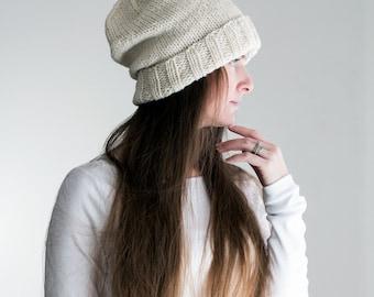 Slouchy Hat Knitting Pattern - ETERNAL - Woman's Knit Hat