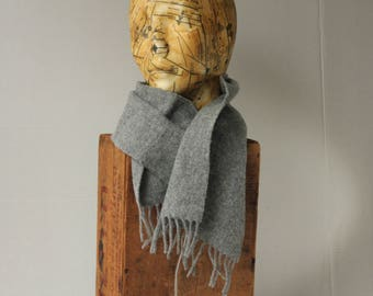 One solid colour Monochromatic grey Come ca ism Shawl Scarf Wool Fringed Warm Gentle Unisex