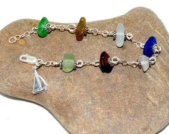 Beach Bracelet, Beach Glass Jewelry, Lake Jewelry, Jewelry Gift for Friend, Beach Gift, Beach Glass, Lake Erie Jewelry