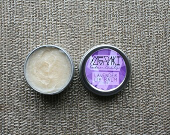 organic lavender lip balm ~ 0.5 oz. \ lip moisturizer \ vegan lip balm \ organic lip balm \ custom lip balm \ handmade lip balm