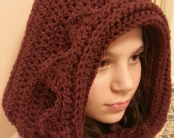 Crochet Pattern Hood, Crochet Renaissance Pixie Hoodie, Crochet Pattern Pixie Hood, Crochet Pattern Hoodie