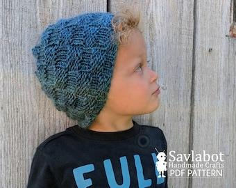 beanie pattern, knit beanie, toddler hat, adult hat, knit pdf pattern, pattern, knit hat, hat, beanie
