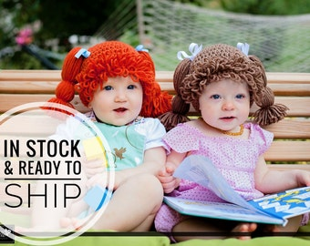 Cabbage Patch Crochet Hat  - In Stock and Ready to Ship Hat - Limited sizes, colors, and quantities available