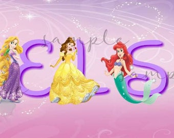 Disney Princess Personalized Canvas Wall Hanging