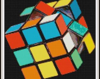 Rubix Cube Cross Stitch Pattern