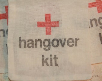 Hangover Kit Bags, 25 DIY Hangover Bags, Wedding Favor Bags,Survival Kit,  Bachorlette Party, Bachelor Party