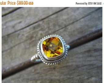 ON SALE Beautiful citrine ring in sterling silver