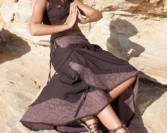Wrap skirt, gypsy skirt, convertible skirt, long skirt, psytrance skirt (last colour left - green) - Nain (0070)