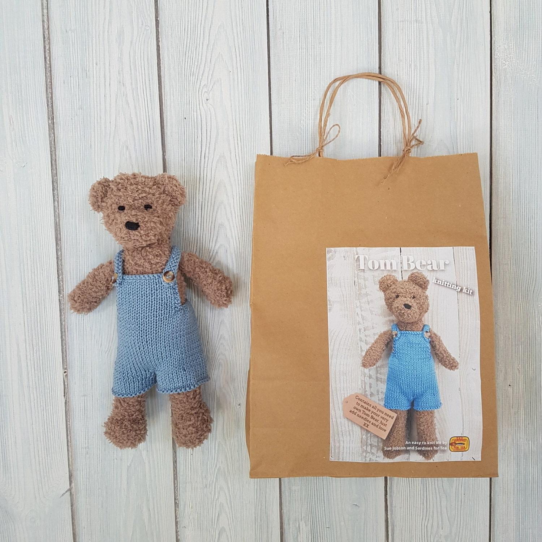 Tom Bear Knitting Kit Make Your Very Own Teddy bear Easy