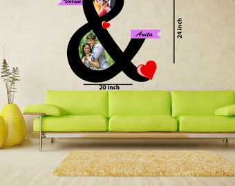 personalized wood & collage for lovely couple