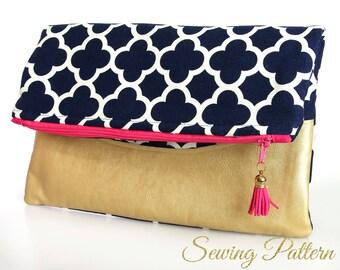 Folding Clutch Pattern, Purse Pattern, Sewing Pattern PDF,  Bag Patterns, Evening Clutch Pattern, Clutch Purse Pattern, FOLDING CLUTCH(B904)