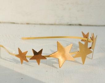 Gold Star Headband Gold Star Crown Star Tiara Bridal Headpiece Celestial Hair Boho  Gold Constellation Celestial Sky Headband Gift for Her