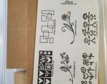 Stampin Up, Smorgasborders, Rubber Stamps, mounted and unmounted