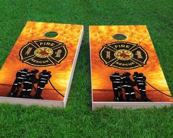 Firefighter Cornhole Etsy