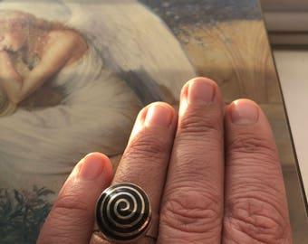 Unique Designer Swirl Ring in Sterling Silver
