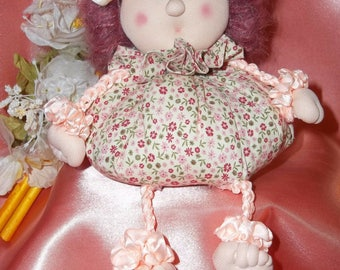 Sewing PATTERN PDF, how to Make a Fabric Doll without a sewing machine,  little Doll in fabric,  as souvenirs or decoration.  Easy to do!
