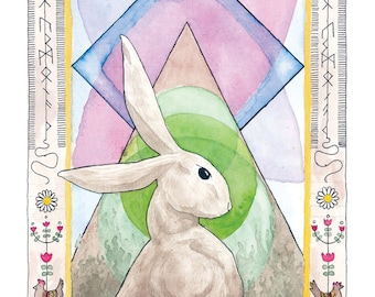Ostara Hare Print