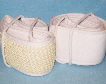 Two (2 Ct) Natural Loofah Back Scrubber-Bath Accessory - Spa Supplies-Favor Gift.