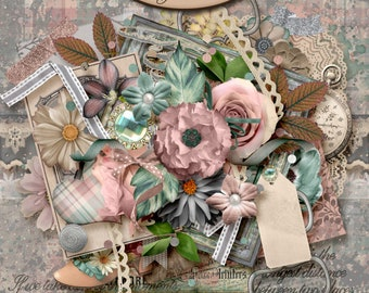 Digital Scrapbooking, Elements, Vintage, Antique: Looking Back Elements Only