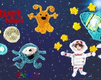 Space set crochet Pattern
