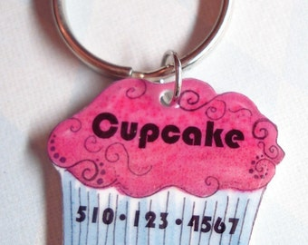 Cupcake Shaped Pet Identification Tag