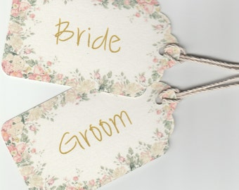 Vintage Wedding Tags / Place Cards