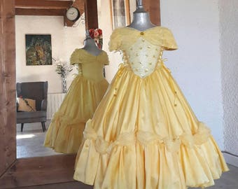 BEAUTIFUL and the beast yellow dress suit luxury