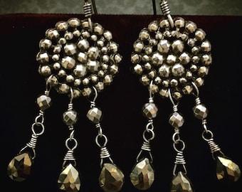 Pyrite Dreamcatcher Earrings