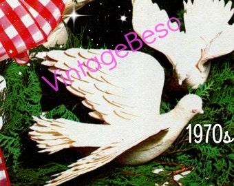 Vintage 1970s SEWING Pattern • Felt Christmas DOVES Sewing Pattern Birds in Flight • INSTANT DOWNlOAD • PdF Pattern
