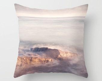 Pink pillow, pink cushion, ocean pillow, ocean cushion, throw pillow, scatter cushion,pillow cover, cushion cover, decorative pillow, pretty