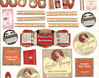 38 Old 1930's PRINCESS Pat and LUCILLE White Labels Gordon Gordon Chicago,IL.