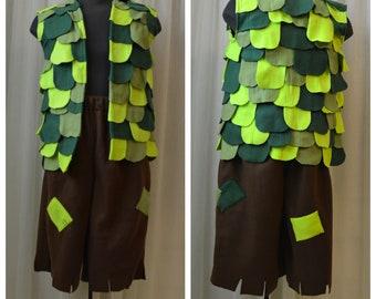 Mens Leafy Vest Branch Costume ND2JXQigz
