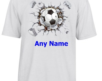 Personalised FOOTBALL T Shirt  *Choice of name colours*