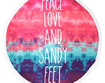 Sandy Feet Beach Towel