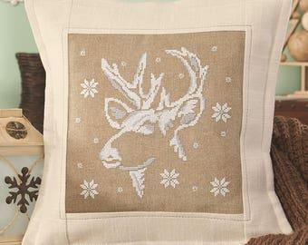 Cross stitch pattern RUDOLPH - christmas pillow,scandinavian,cross stitch,needlepoint,embroidery,cushion,swedish,anette eriksson,