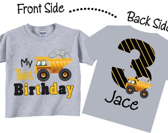 3rd Birthday Shirts for Boys with Dumptruck Tees